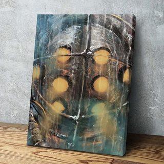 Картина 30х40 см Большой папочка - Bioshock