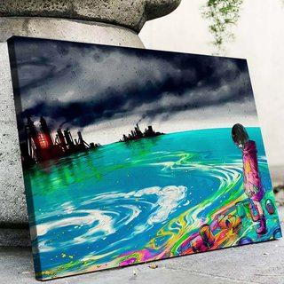 Картина Завод в красках