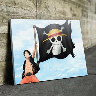 Картина по аниме Ван Пис - Луффи с Флагом