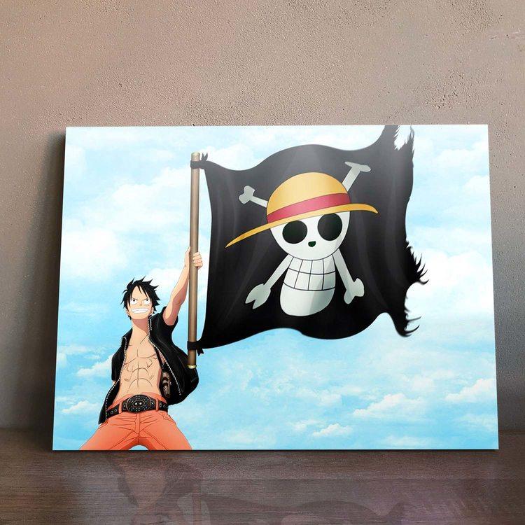 Картина Ван Пис - Луффи с Флагом