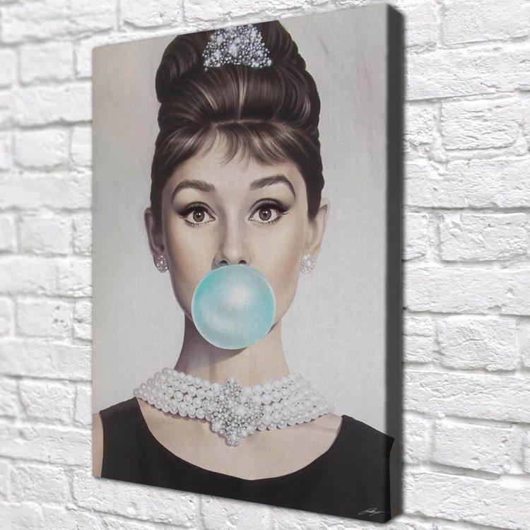 Картина Audrey Hepburn Bubblegum - p53755