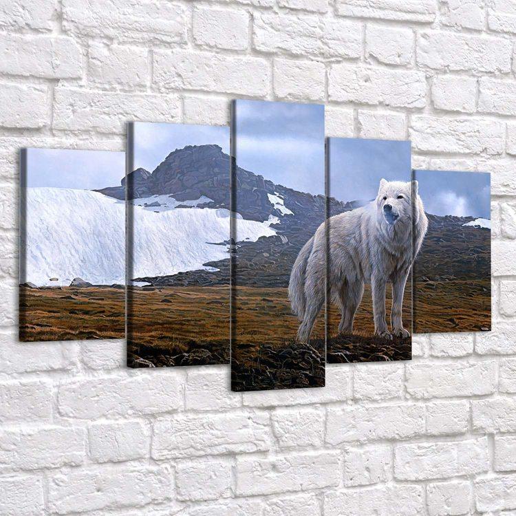 Картина Белый Волк В Горах
