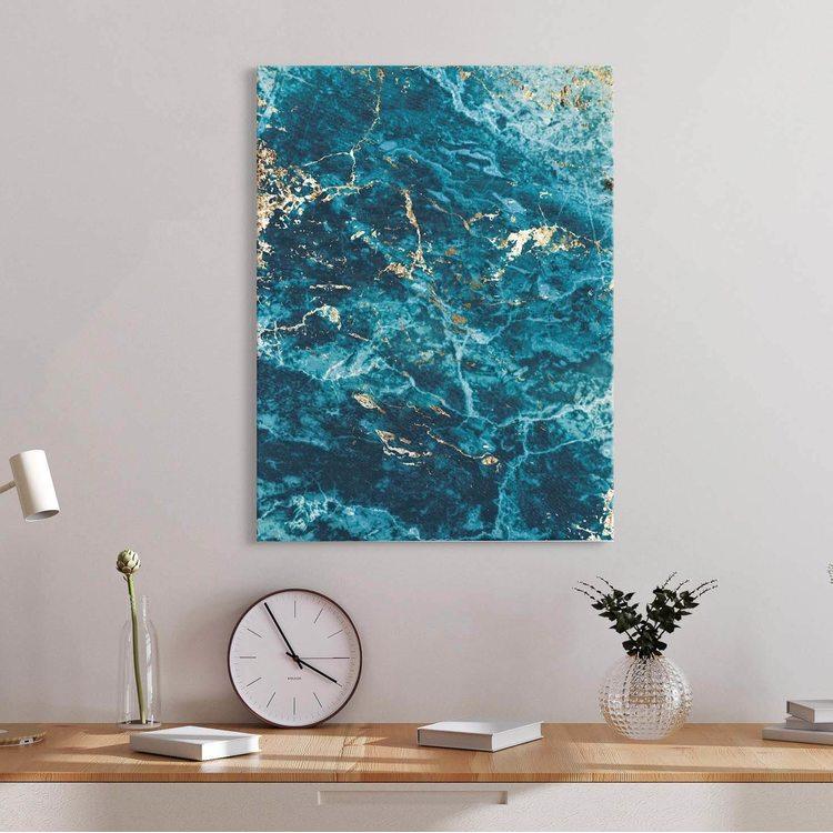 Картина Бирюзовый Мрамор - p53845