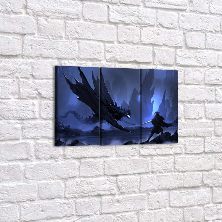 Модульная картина Битва С Драконом