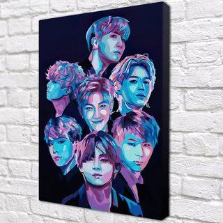 Картина BTS лица