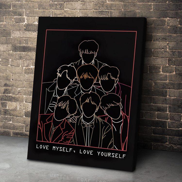 Картина BTS Силуэты
