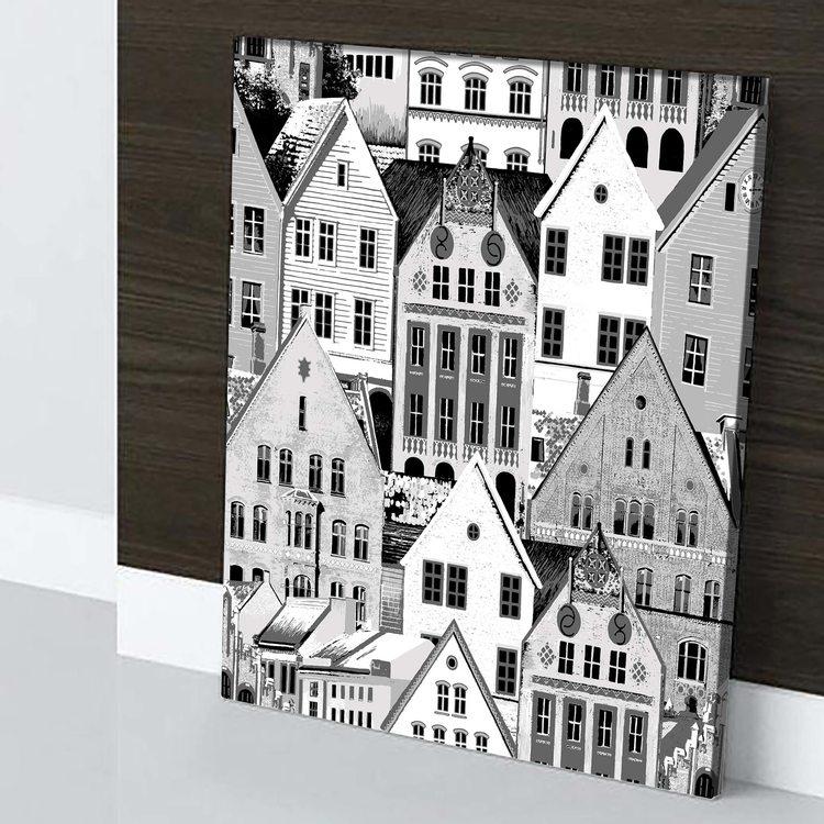 Картина Черно-Белый Город