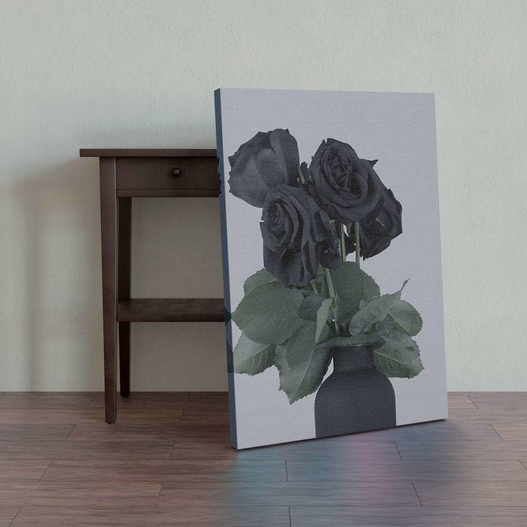 Картина Черные Розы - p53742