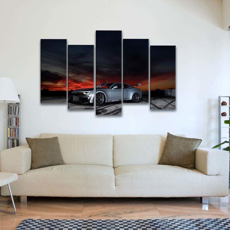 Модульная картина Chevrolet Camaro GT4.R