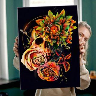Картина Цветущий Череп