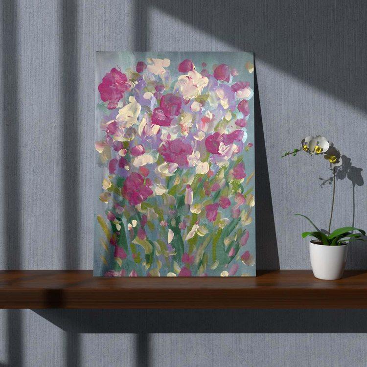 Картина Цветы В Абстракции - p53685