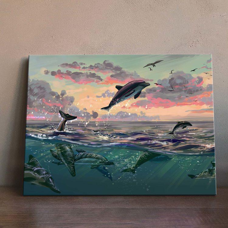 Картина Дельфины