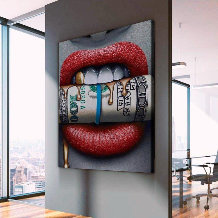 Картина Деньги В Зубах