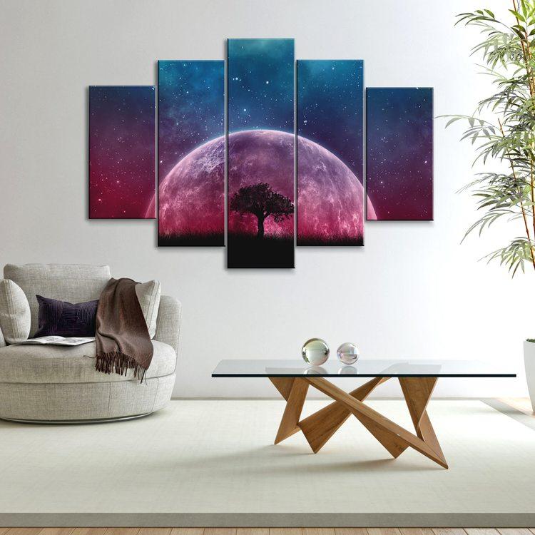 Модульная картина Дерево И Луна