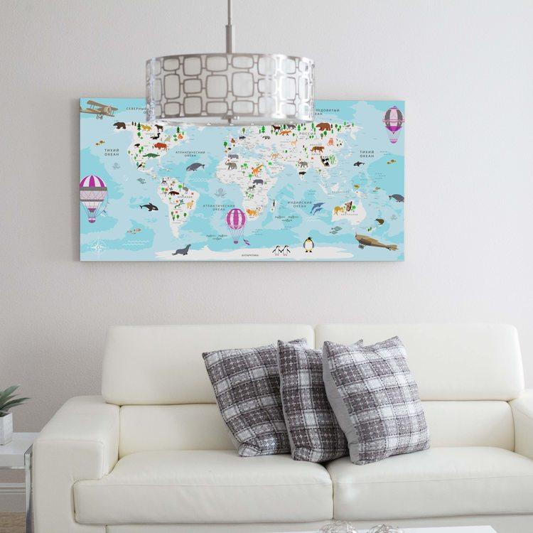 Картина Детская Карта Мира - p53866