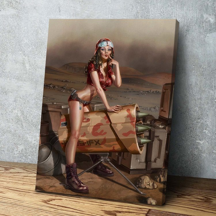Картина Девушка на Ракете