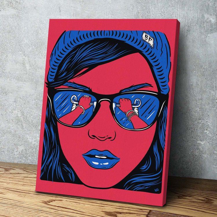 Картина Девушка на Вело
