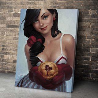 Картина Девушка С Кексом