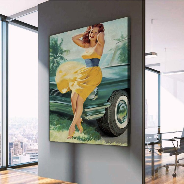 Картина Девушка у Авто