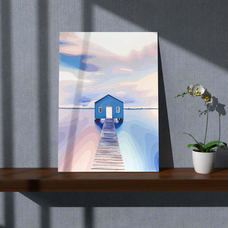 Картина Дом На Озере - p53695