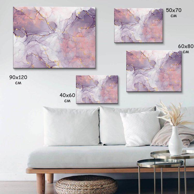 Картина Дымчато-Розовый Мрамор - p53851