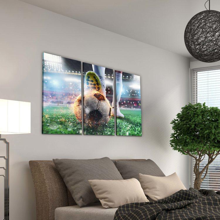 Модульная картина Футбольный Мяч - Искры
