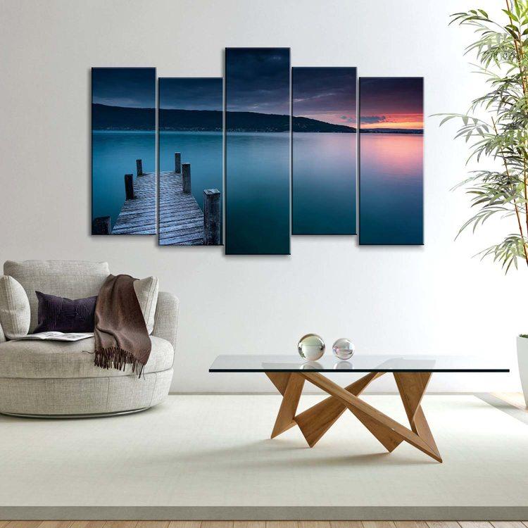 Модульная картина Французское Озеро