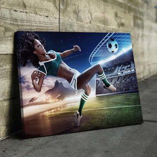Картина Футболистка