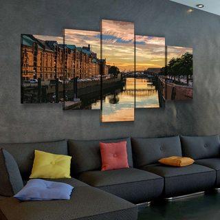 Модульная картина Гамбург Акварелью