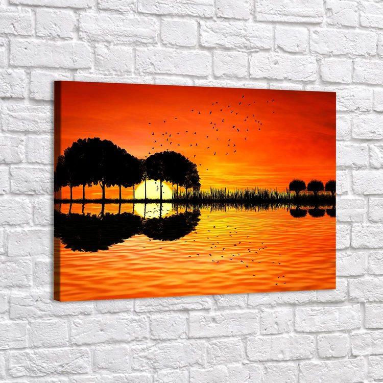 Картина Гитара Закат - p53654