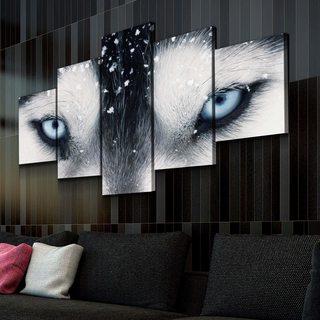 Модульная картина Взгляд Волчицы