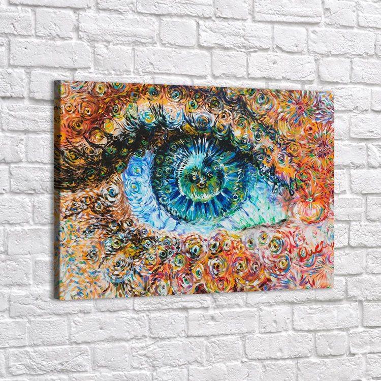 Картина Голубой Глаз Абстракция - p53618