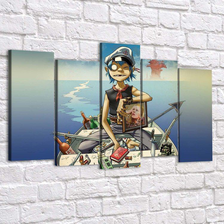 Картина Gorillaz - Лодка