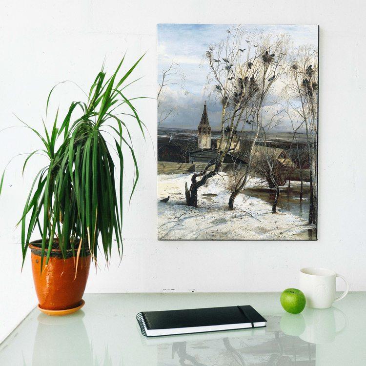 Картина Алексей Саврасов - Грачи Прилетели