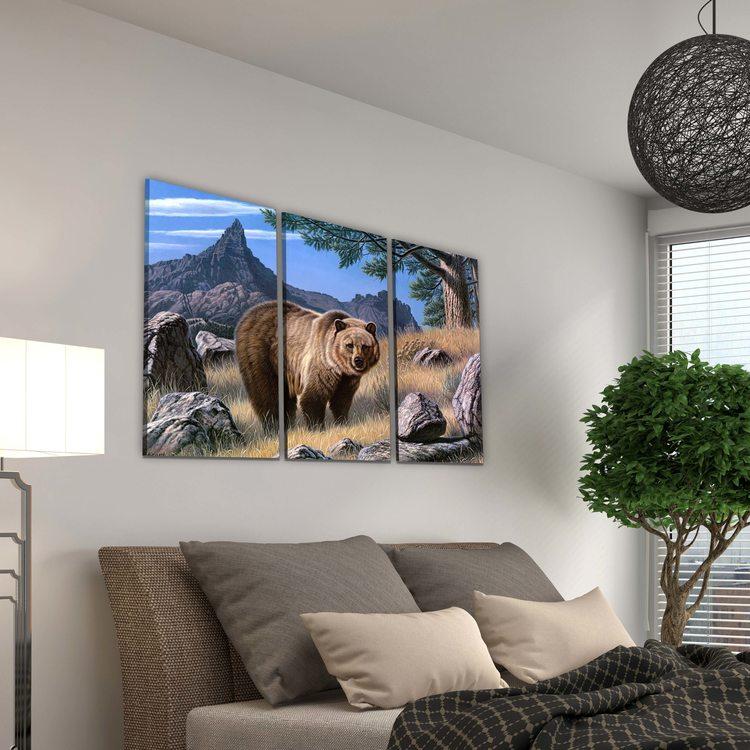 Модульная картина Гриззли В Горах