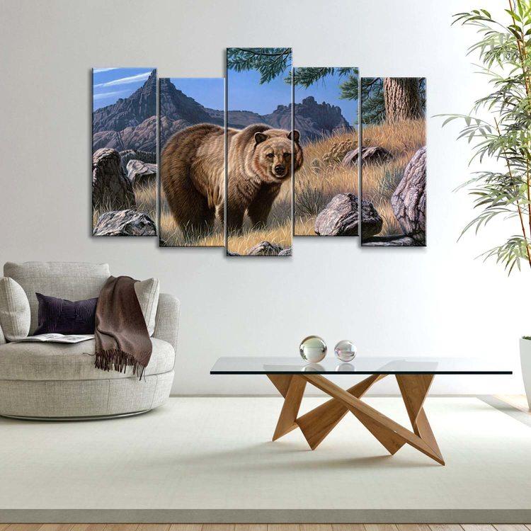 Картина Гриззли В Горах