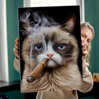 Картина Грустный кот