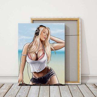 Картина GTA 5 - Девушка Диджей