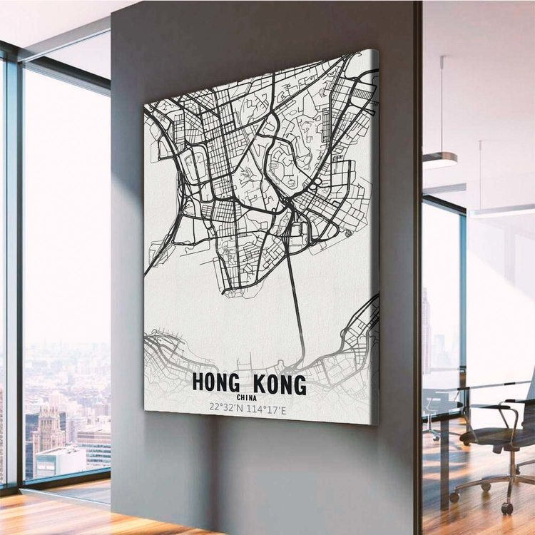 Картина Карта Гонконг
