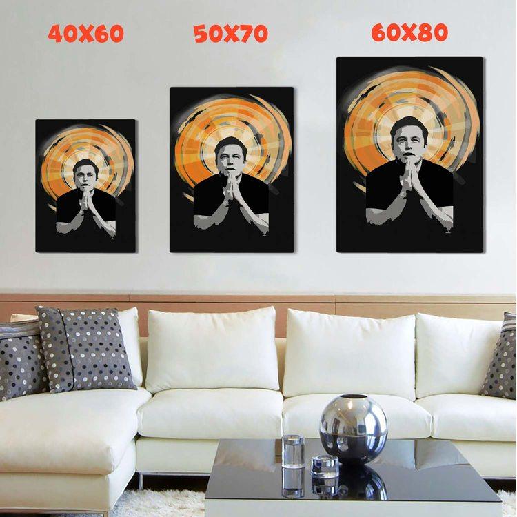 Картина Илон Маск Святой