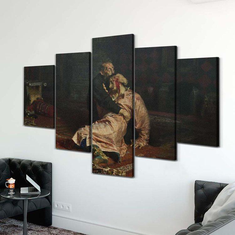 Картина Илья Репин - Иван Грозный Убивает Своего Сына