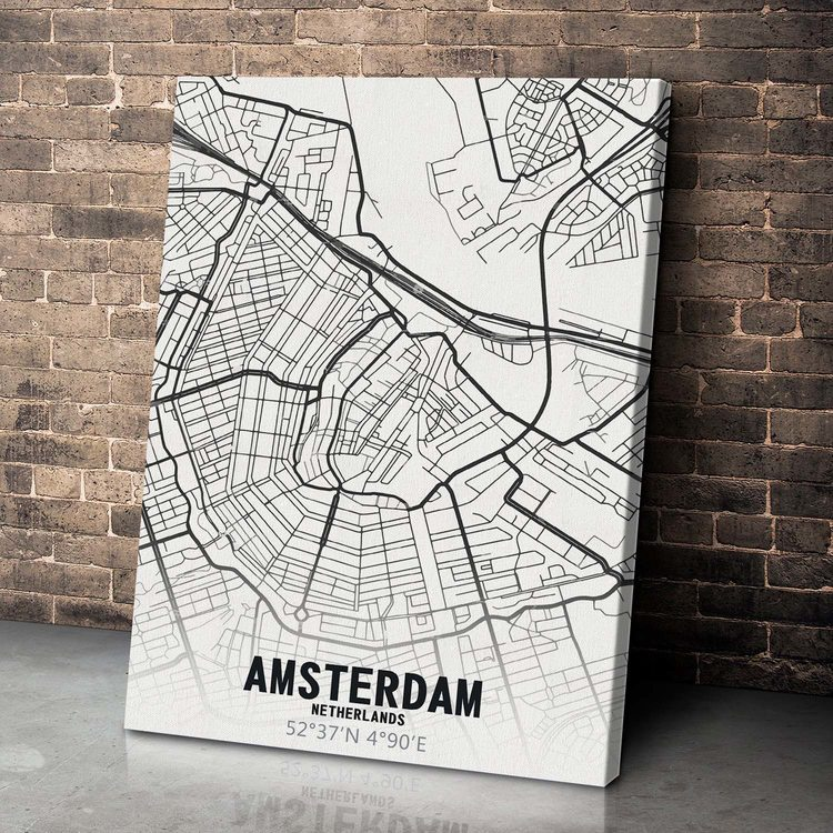Картина Карта Амстердам