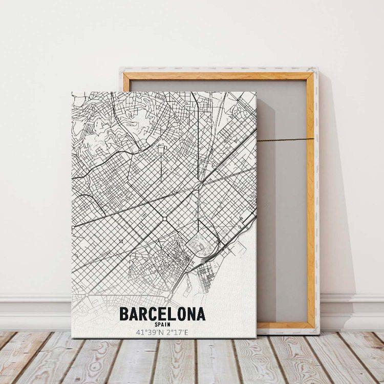 Картина Карта Барселона
