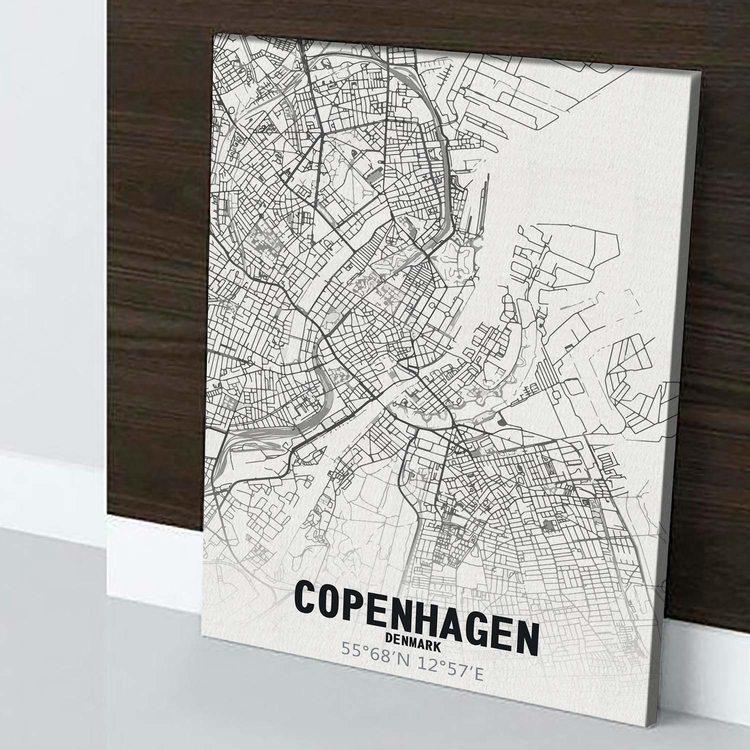 Картина Карта Копенгаген