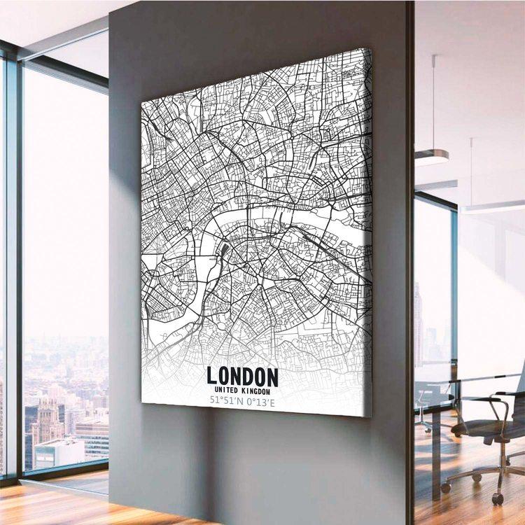 Картина Карта Лондон