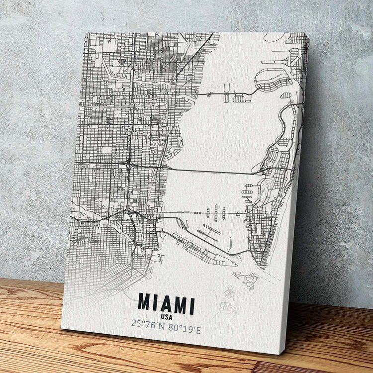 Картина Карта Майами