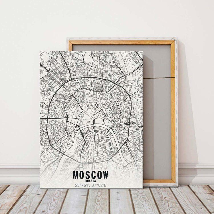 Картина Карта Москва