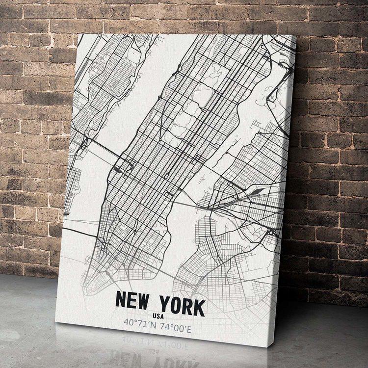Картина Карта Нью-Йорк