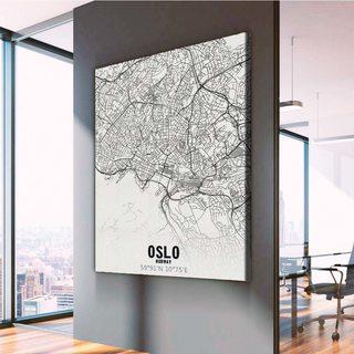 Картина Карта Осло