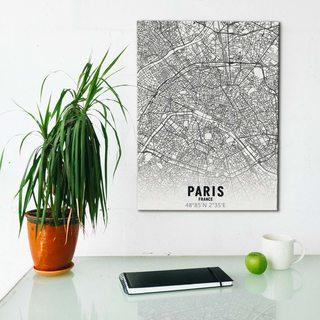 Картина Карта Париж